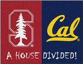 Fan Mats Stanford/UC-Berkeley House Divided Mat