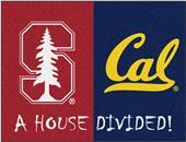 Fan Mats Stanford/UC-Berkeley House Divided Mat