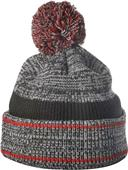 Richardson Heathered Knit with Cuff & Pom Beanie