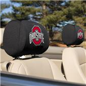 Collegiate Ohio State Headrest Covers Set of 2