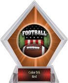 Awards Patriot Football Orange Diamond Ice Trophy