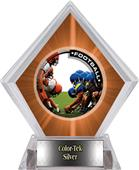 Awards PR1 Football Orange Diamond Ice Trophy