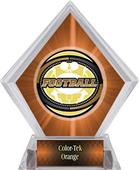 Awards Classic Football Orange Diamond Ice Trophy