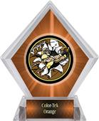 Awards Bust-Out Football Orange Diamond Ice Trophy