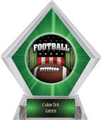 Awards Patriot Football Green Diamond Ice Trophy