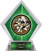 Awards Bust-Out Football Green Diamond Ice Trophy