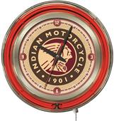 "Holland Indian Motorcycle 15"" Neon Clock"