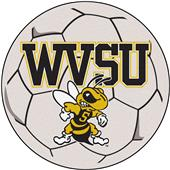 Fan Mats West Virginia State Univ Soccer Ball Mat