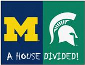 Fan Mats Michigan/Michigan State House Divided Mat