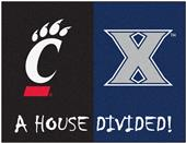 Fan Mats Xavier/Cincinnati House Divided Mat