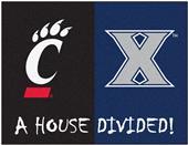 Fan Mats Xavier/Cincinnati House Divided Mat