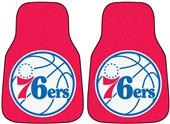 Fan Mats Philadelphia 76ers Carpet Car Mats (set)