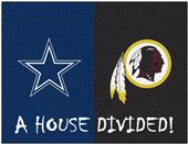 Fan Mats NFL Cowboys/Redskins House Divided Mat