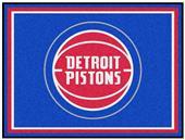 Fan Mats NBA Detroit Pistons 8x10 Rug