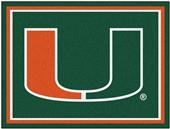 Fan Mats NCAA University of Miami 8x10 Rug