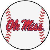 Fan Mats University of Mississippi Baseball Mat