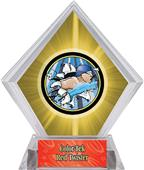 Hasty Awards Yellow Diamond Swimming Ice Trophy