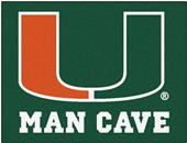 Fan Mats University of Miami Man Cave All-Star Mat