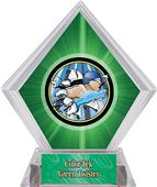 Hasty Awards Green Diamond Swimming Ice Trophy