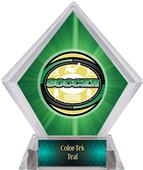 Classic Soccer Green Diamond Ice Trophy