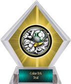 Awards Bust-Out Soccer Yellow Diamond Ice Trophy