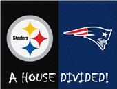 Fan Mats NFL Steelers/Patriots House Divided Mat
