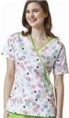 WonderWink Juliet Print Womens Scrub Top