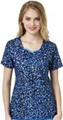 WonderWink Womens Curve-Centric Fashion Scrub Top