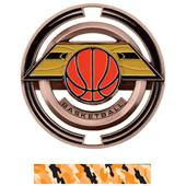 """Hasty Awards Basketball 3"""" Saturn Medals"""