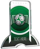 "6"" Legacy TRUacrylic Soccer 3/4"" Thick Trophy"