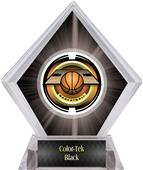 "2"" Saturn Basketball Black Diamond Ice Trophy"