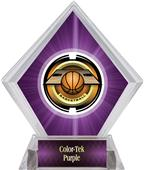 "2"" Saturn Basketball Purple Diamond Ice Trophy"