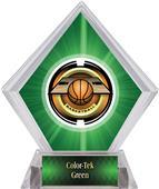 "2"" Saturn Basketball Green Diamond Ice Trophy"