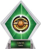 "2"" Saturn Basketball Green Diamond Ice Trophy"