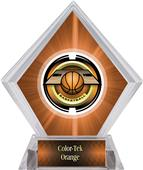 "2"" Saturn Basketball Orange Diamond Ice Trophy"