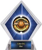 "2"" Saturn Basketball Blue Diamond Ice Trophy"