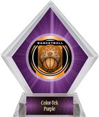 "2"" Legacy Basketball Purple Diamond Ice Trophy"