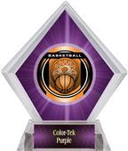 "2"" Legacy Basketball Purple Diamond Ice Trophy"