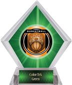 "2"" Legacy Basketball Green Diamond Ice Trophy"
