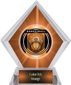 "2"" Legacy Basketball Orange Diamond Ice Trophy"