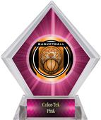 "2"" Legacy Basketball Pink Diamond Ice Trophy"