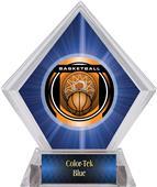 "2"" Legacy Basketball Blue Diamond Ice Trophy"