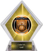 "2"" Legacy Basketball Yellow Diamond Ice Trophy"