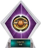 Awards Saturn Basketball Purple Diamond Ice Trophy