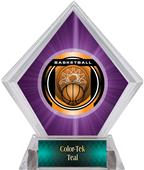Awards Legacy Basketball Purple Diamond Ice Trophy