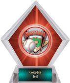 ProSport Baseball Red Diamond Ice Trophy Label