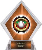 "2"" Saturn Baseball Orange Diamond Ice Trophy"