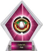 "2"" Saturn Baseball Pink Diamond Ice Trophy"