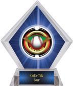 "2"" Saturn Baseball Blue Diamond Ice Trophy"