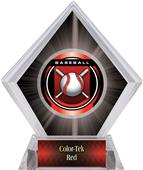 "2"" Legacy Baseball Black Diamond Ice Trophy"